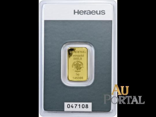 Investiční zlato zlatý slitek g Heraeus Hanau